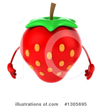 Strawberry Character Clipart #1305695 by Julos