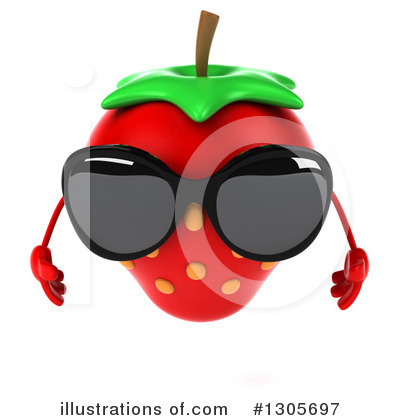 Strawberry Character Clipart #1305697 by Julos