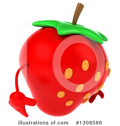 Strawberry Character Clipart #1308566 by Julos