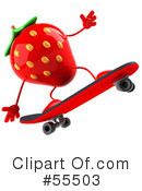 Strawberry Character Clipart #55503 by Julos