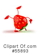 Strawberry Character Clipart #55893 by Julos