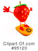 Strawberry Character Clipart #95120 by Julos
