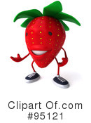 Strawberry Character Clipart #95121 by Julos