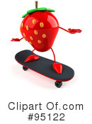 Strawberry Character Clipart #95122 by Julos