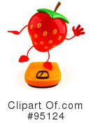 Strawberry Character Clipart #95124 by Julos