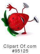 Strawberry Character Clipart #95125 by Julos