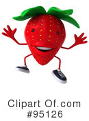 Strawberry Character Clipart #95126 by Julos