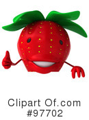 Strawberry Character Clipart #97702 by Julos