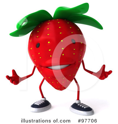Strawberry Character Clipart #97706 by Julos