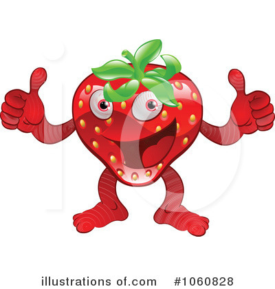 Strawberry Clipart #1060828 by AtStockIllustration