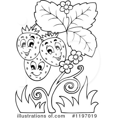 Royalty-Free (RF) Strawberry Clipart Illustration by visekart - Stock Sample #1197019
