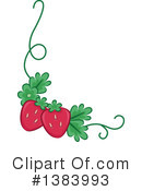 Royalty-Free (RF) Strawberry Clipart Illustration #1383993