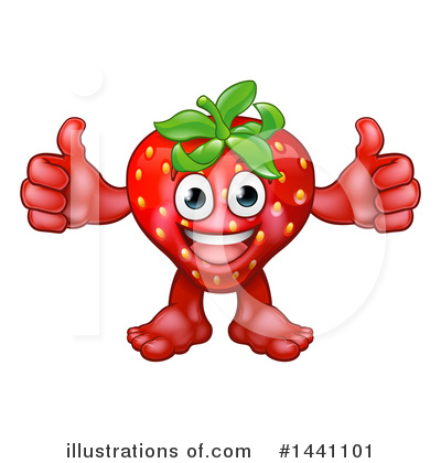 Strawberry Clipart #1441101 by AtStockIllustration