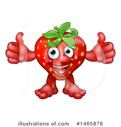 Strawberry Clipart #1465876 by AtStockIllustration