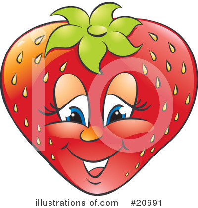 Royalty-Free (RF) Strawberry Clipart Illustration by Alexia Lougiaki - Stock Sample #20691