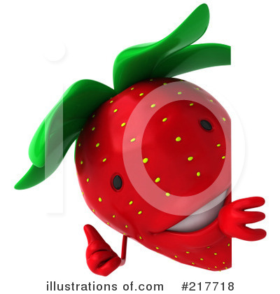 Strawberry Character Clipart #217718 by Julos