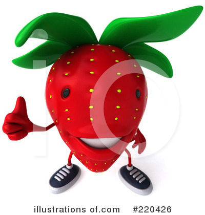 Strawberry Character Clipart #220426 by Julos