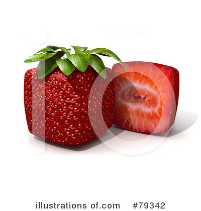 Royalty-Free (RF) Strawberry Clipart Illustration by Frank Boston - Stock Sample #79342