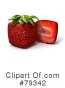 Royalty-Free (RF) Strawberry Clipart Illustration #79342