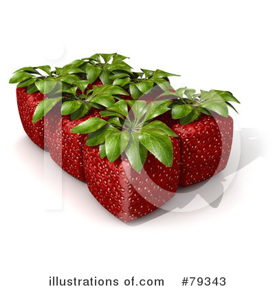 Strawberry Clipart #79343 by Frank Boston