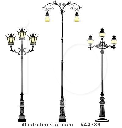 Street Lamp Clipart #44386 - Illustration by Frisko