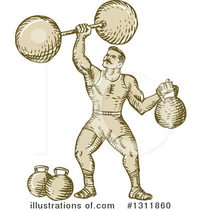 Royalty-Free (RF) Strongman Clipart Illustration by patrimonio - Stock Sample #1311860