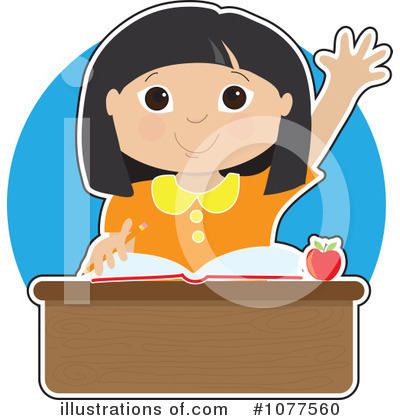 Royalty-Free (RF) Student Clipart Illustration by Maria Bell - Stock Sample #1077560