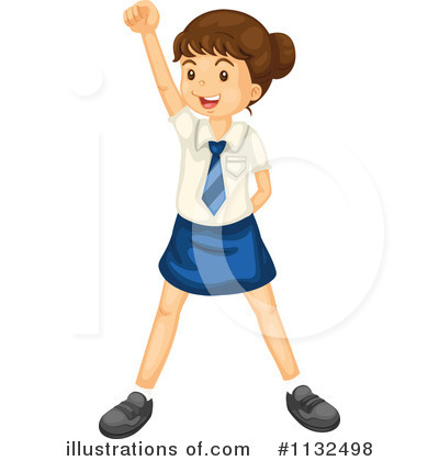 School Girl Clipart #1132498 by Graphics RF