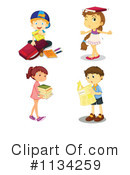 Royalty-Free (RF) Student Clipart Illustration #1134259