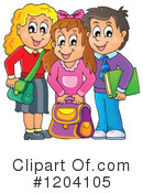 Royalty-Free (RF) Student Clipart Illustration #1204105