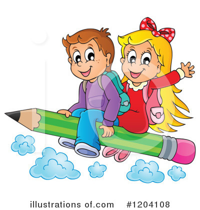 School Children Clipart #1204108 by visekart