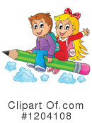 Royalty-Free (RF) Student Clipart Illustration #1204108