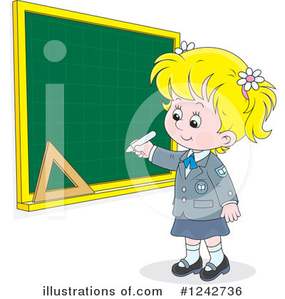School Girl Clipart #1242736 by Alex Bannykh
