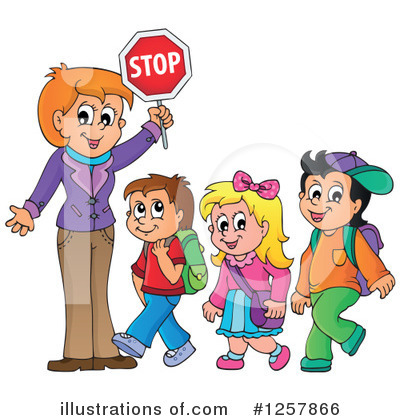 School Children Clipart #1257866 by visekart
