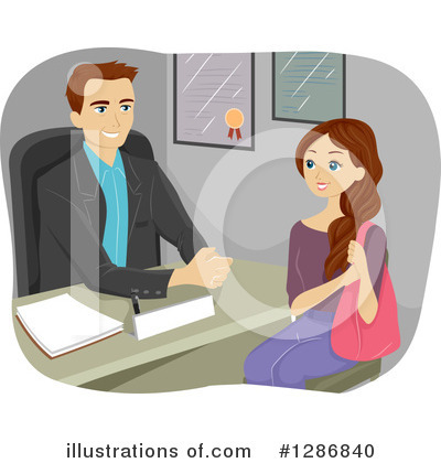 Royalty-Free (RF) Student Clipart Illustration by BNP Design Studio - Stock Sample #1286840