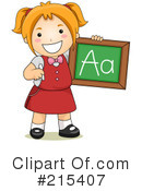Royalty-Free (RF) student Clipart Illustration #215407