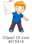 Royalty-Free (RF) Student Clipart Illustration #215418