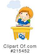 Royalty-Free (RF) Student Clipart Illustration #215452