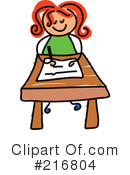 Royalty-Free (RF) Student Clipart Illustration #216804