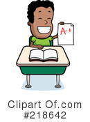 Royalty-Free (RF) Student Clipart Illustration #218642