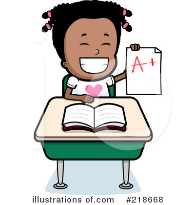 Royalty-Free (RF) Student Clipart Illustration by Cory Thoman - Stock Sample #218668