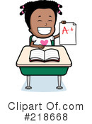 Royalty-Free (RF) Student Clipart Illustration #218668