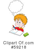 Royalty-Free (RF) Student Clipart Illustration #59218