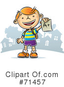 Royalty-Free (RF) Student Clipart Illustration #71457