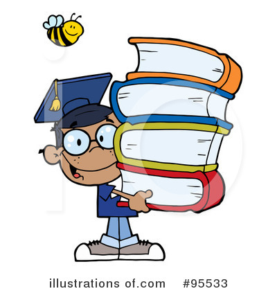 Royalty-Free (RF) Student Clipart Illustration by Hit Toon - Stock Sample #95533