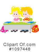 Royalty-Free (RF) students Clipart Illustration #1097448