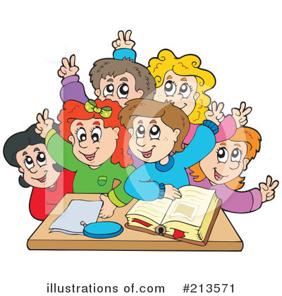 Royalty-Free (RF) Students Clipart Illustration by visekart - Stock Sample #213571