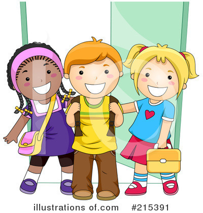 Royalty-Free (RF) Students Clipart Illustration by BNP Design Studio - Stock Sample #215391