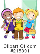 Royalty-Free (RF) Students Clipart Illustration #215391