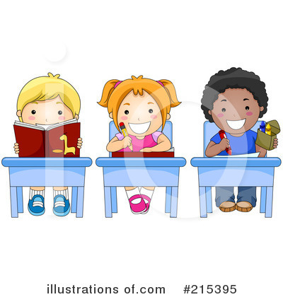Royalty-Free (RF) Students Clipart Illustration by BNP Design Studio - Stock Sample #215395